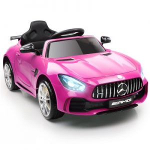Kids Ride On Car Licensed Mercedes Benz AMG GTR Pink