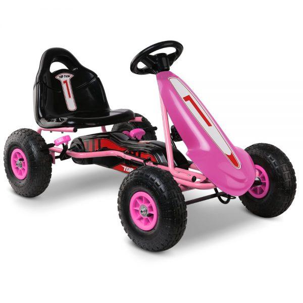 Kids Pedal Go Kart Car Ride On Toys Racing Bike Pink
