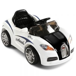 Bugatti Inspired Kids Ride On Car - Black & White