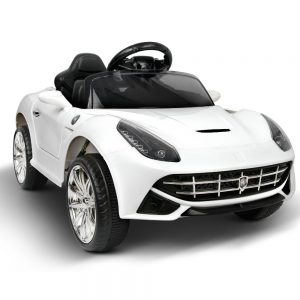 Ferrari Style Kids Ride on Car - White