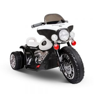 Kids Ride On Motorbike Motorcycle Toys Black White