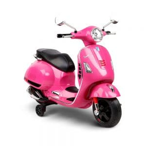 Kids Ride On Motorbike Vespa Licensed Motorcycle Car Toys Pink