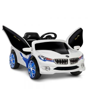 Kids Ride On Car - Blue & White