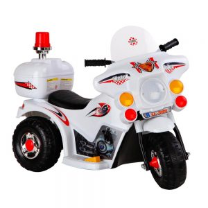 Kids Ride On Motorbike Motorcycle Car Toys White