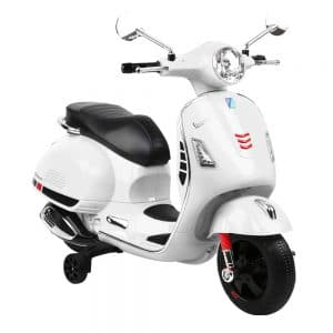 Kids Ride On Motorbike Vespa Licensed Motorcycle Car Toys White