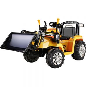 Rigo Kids Ride On Bulldozer Digger Electric Car Yellow