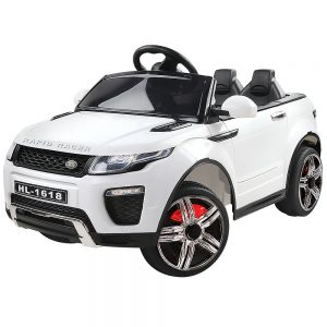 Kids Ride On Car White Range Rover Inspired Electric 12V Toys