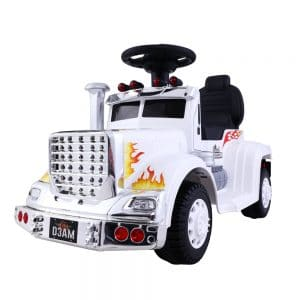 Ride On Cars Kids Electric Toys Car Battery Truck White