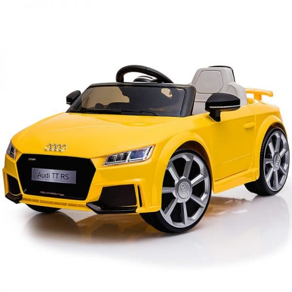 Licensed TT RS Electric Kids Ride On Car - Yellow