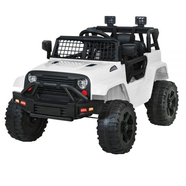 Jeep Kids Ride on Car 12V Remote Control White