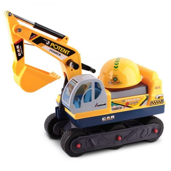 Kids Ride On Excavator and Digger Yellow