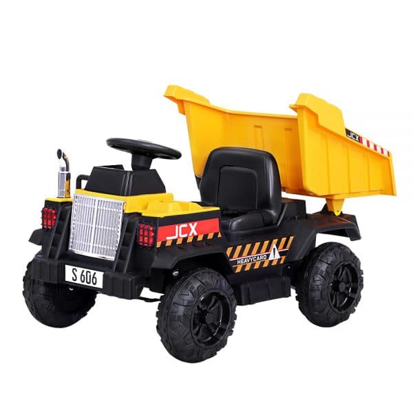 Kids Ride On Dump Tip Truck Electric Bulldozer 12V