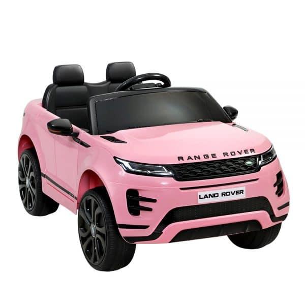 Licensed Land Rover 12V Electric Kids Ride On Car Pink