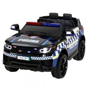 Police Patrol Kids Ride On Car Range Rover Inspired Black
