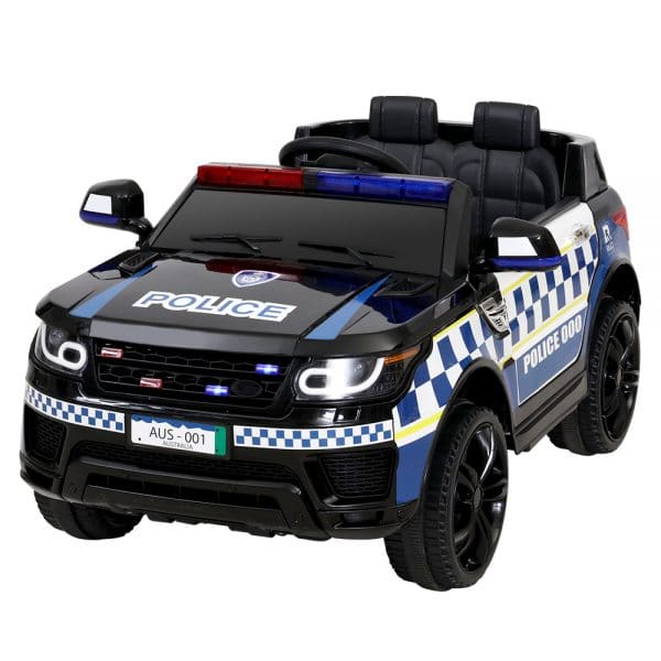 Police Patrol Kids Ride On Car Range Rover Inspired Black