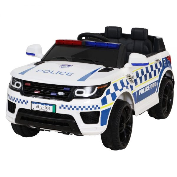 Police Patrol Kids Ride On Car Range Rover Inspired White